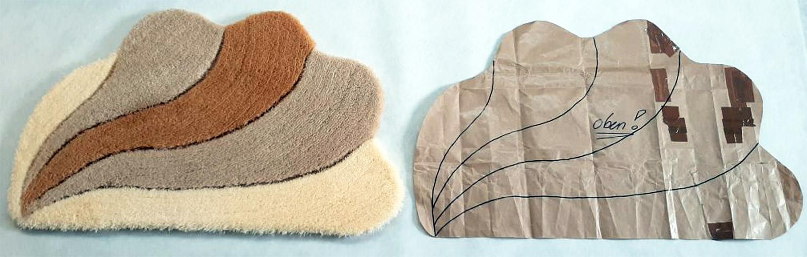 Badteppiche Schablonenanfertigung und individuelle Entwürfe