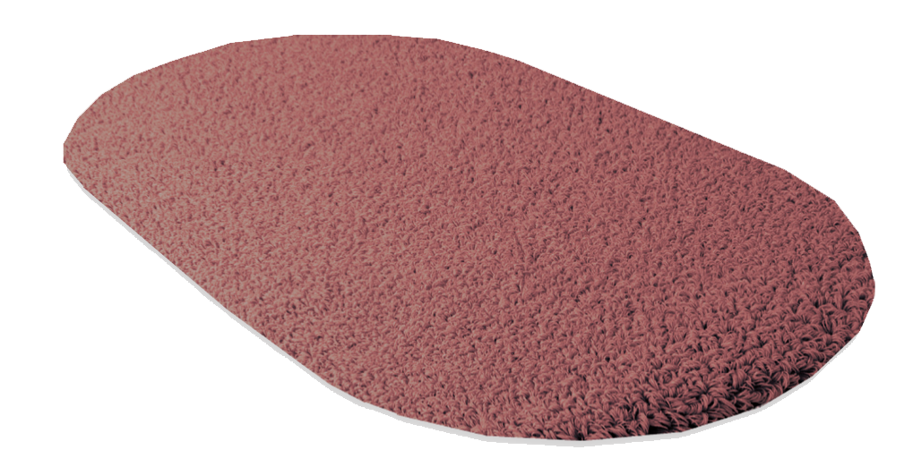 Badteppich ROMA, Form E 1 oval